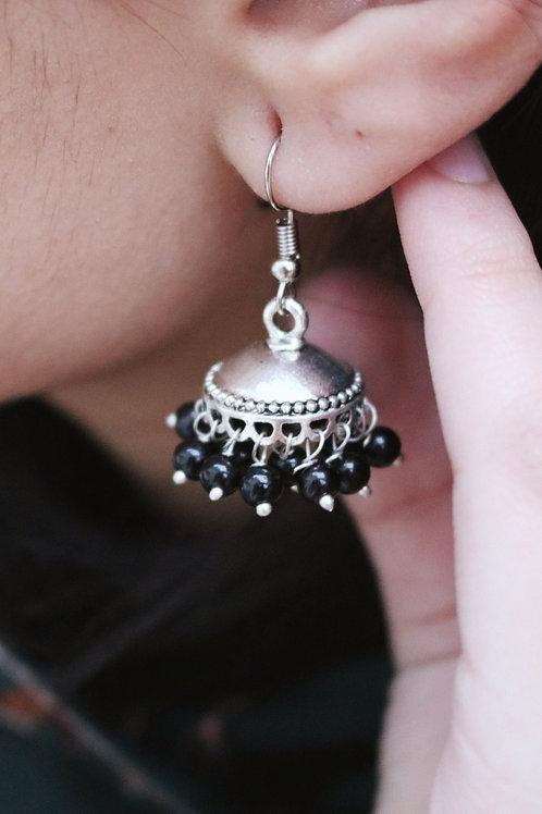 Simple Mini Jhumkay (Black, Pearl & Multi)