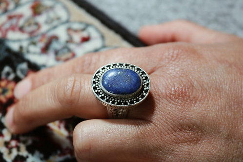Large Oval Stone Rings