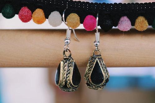Small Antique Kuchi Drop Earrings