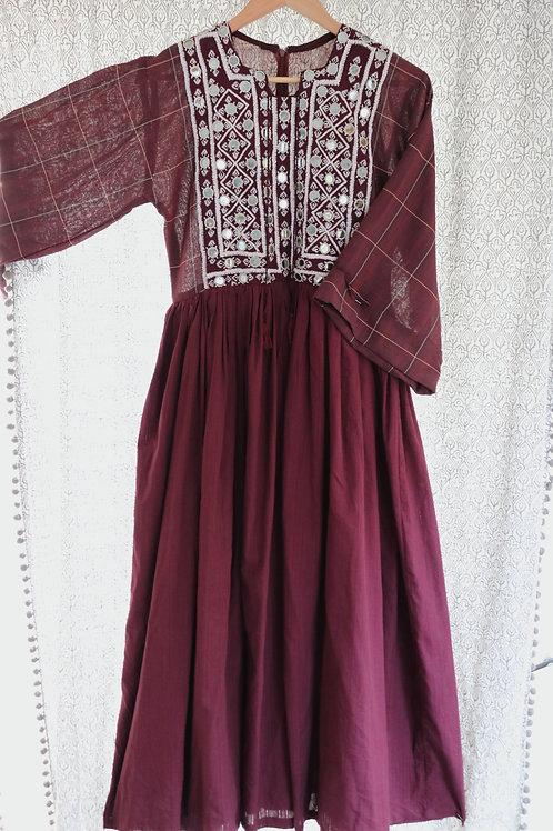 Plaid Mirrorwork Dress