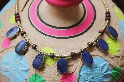 Lapis Lazuli Oval Drop Necklace