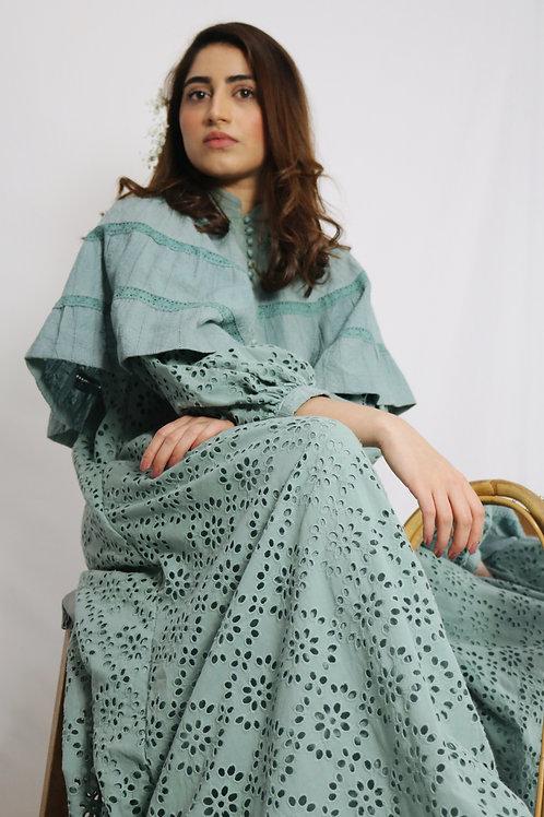 Turquoise Cape Dress