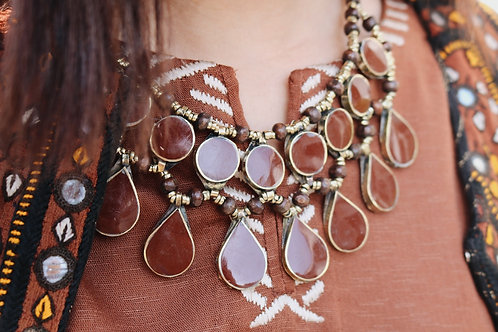 Brown Double Layered Necklace