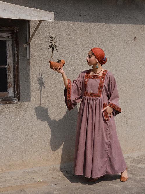 Lilac Folk Maxi Dress