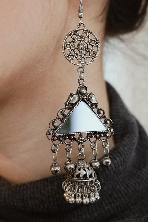 Triangle Mirror Jhumkay
