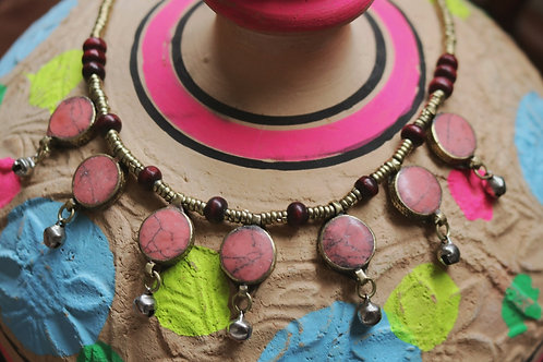 Pink Bell Necklace
