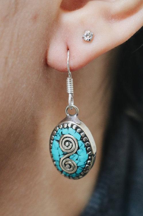 Nepali Mini Oval Earrings
