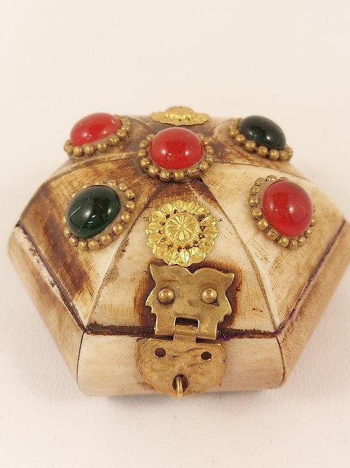 Pentagon Camel Bone Jewellery Box