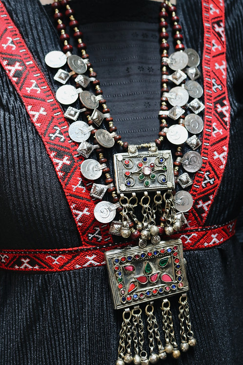 Antique Double Layer Kuchi Coin Necklace