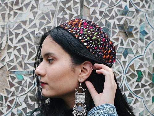 Sindhi Mirrorwork Topi