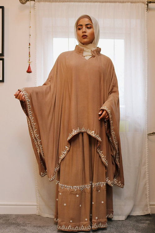 Mocha Skirt and Kaftan Co-ord