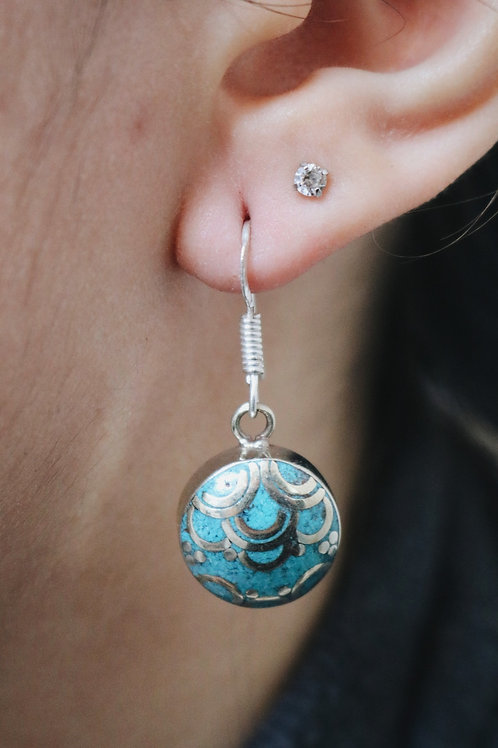 Nepali Small Disc Earrings