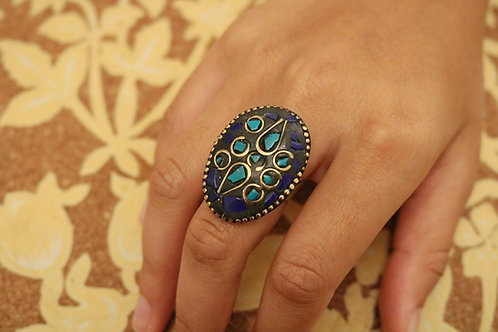 Assorted Cobalt / Turquoise Mosaic Rings
