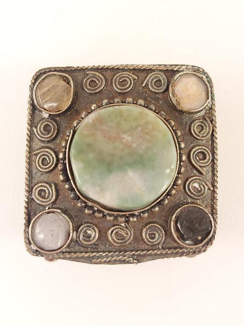 Antique Mini Gemstone Jewellery Box