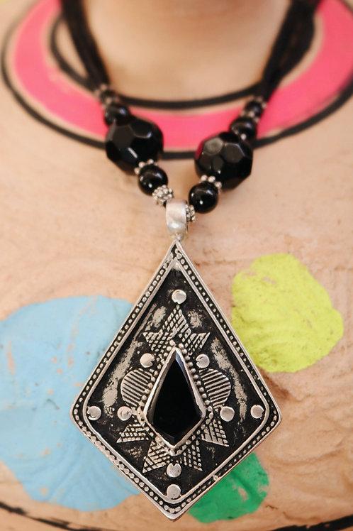 Diamond Stone Silver Pendants
