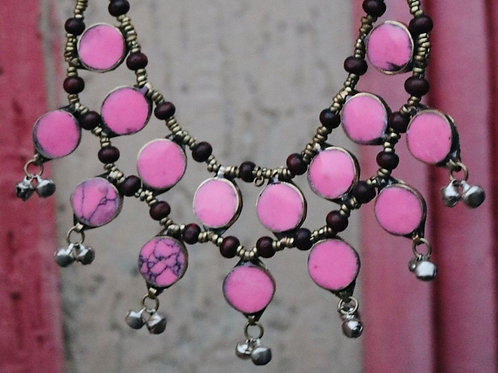 Pink Double Layered Necklace