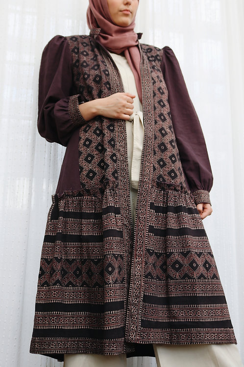 Purple Ajrak Kimono