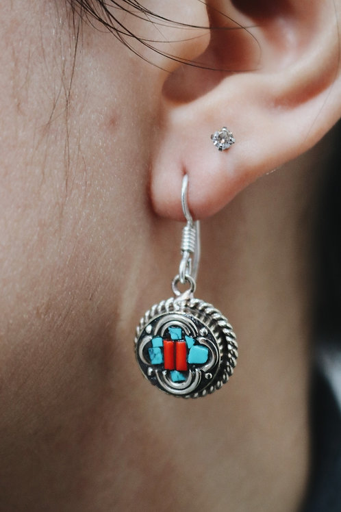 Nepali Mini Disc Earrings