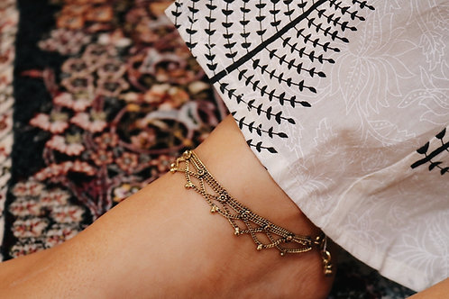 Assorted Bronze Chain Anklets
