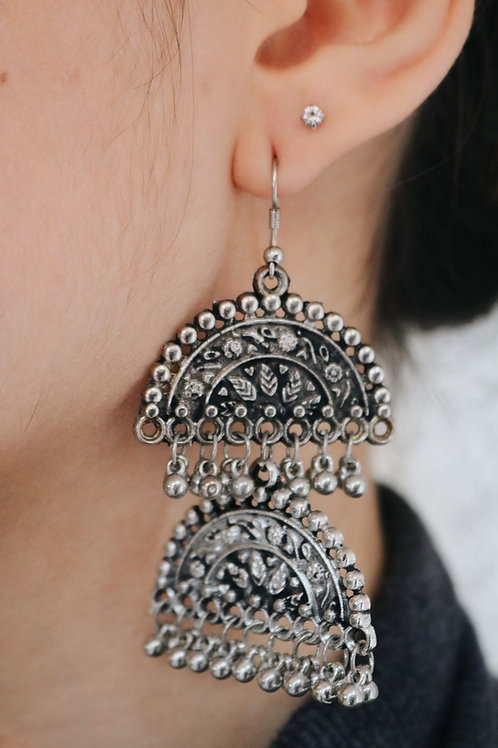 Antique Half Moon Earrings