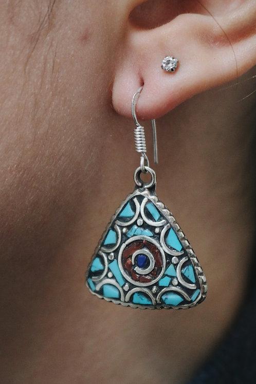 Nepali Triangle Earrings