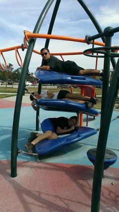 Serious pose: Alex, Benny, Jasper