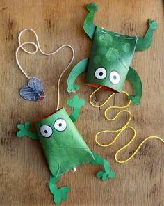 Crie 3 brinquedos utilizando rolos de papel