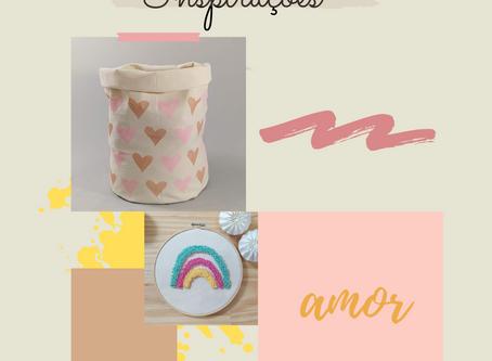 Quarto infantil rosa e nude - painel de inspirações