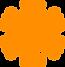 詳細なオレンジスノーフレーク