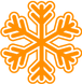 Szczegółowe Pomarańczowy Snowflake