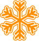 Detailed Orange Snowflake