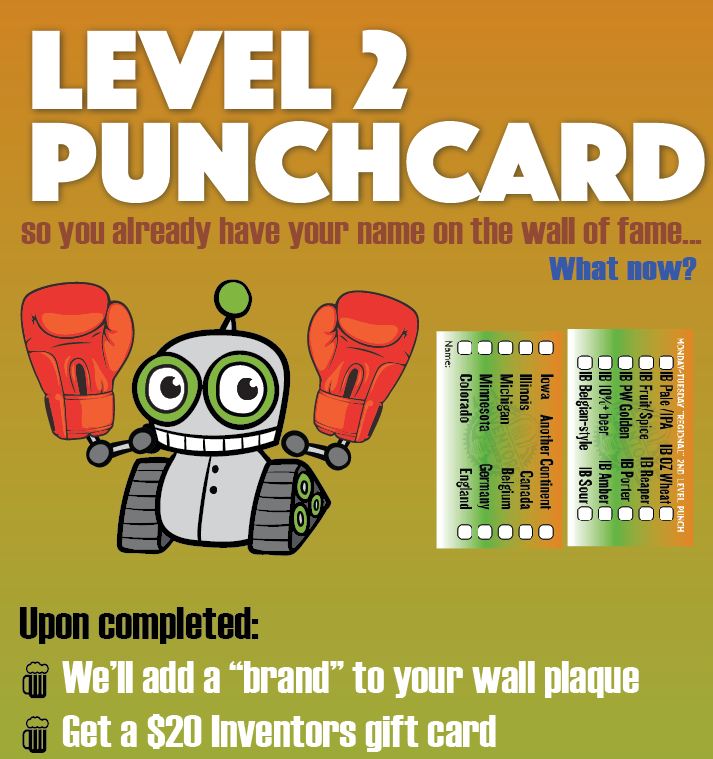 level 2 punchcard inventors brewpub