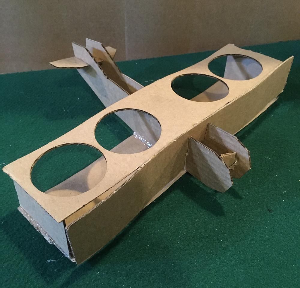 cardboard prototype beer flight inventors brewpub