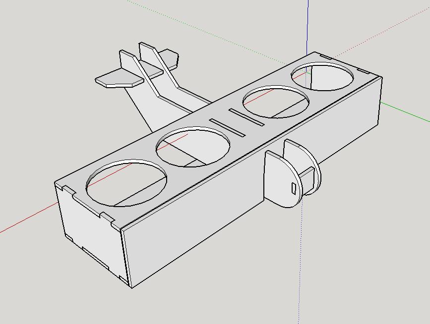 3d model beer flight inventors brewpub