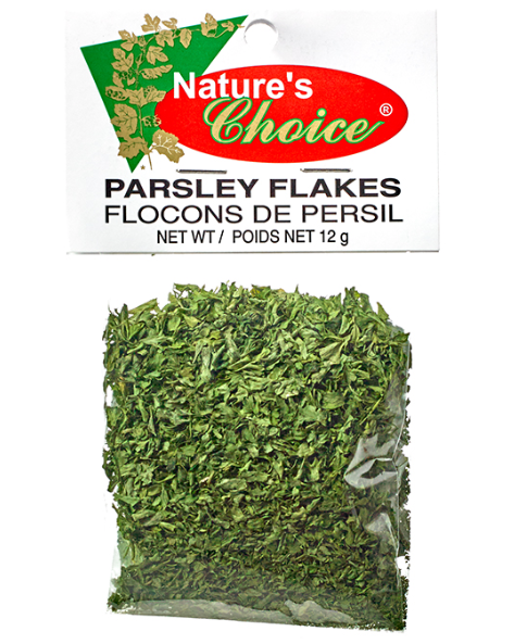 garnish with flaked parsley