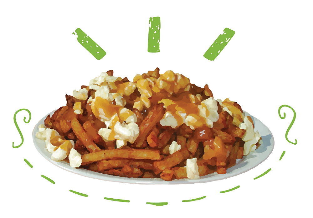poutine - a piece of food art