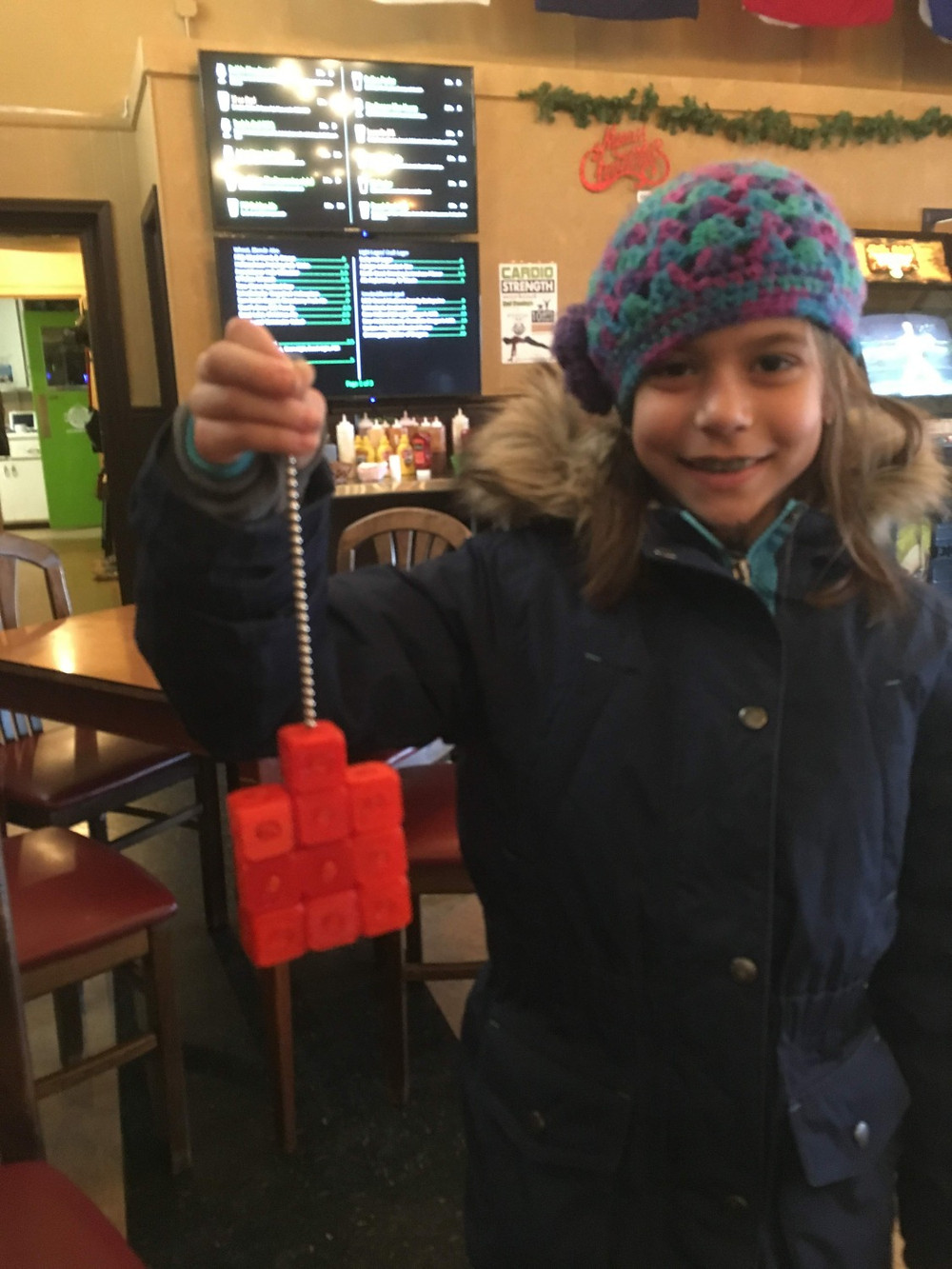 buck balls holding up some printed blocks - strong magnets!