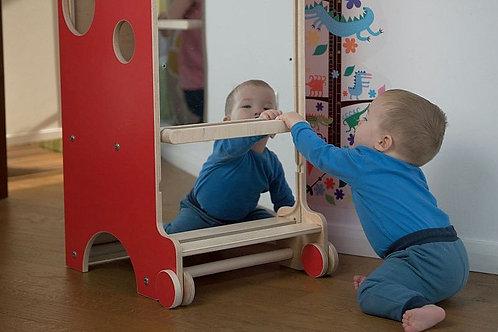 Montessori mirror with pull-up bar