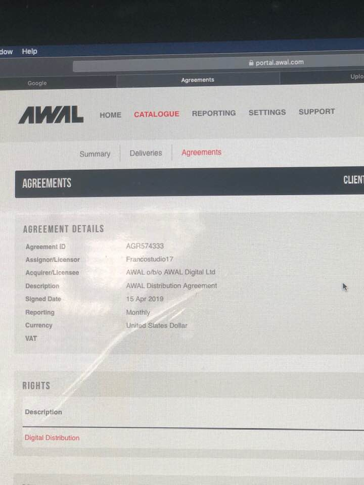 signed awal kobalt record label