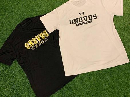 ONOVUS BASEBALL Tシャツ完成!!ONOVUS SPORTS(愛媛県松山市野球用品店)