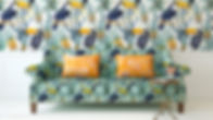 Tropical Print Sofa and Wall