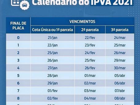 Cronograma IPVA 2021|Renovação CNH 2020|Licencimento anual 2020