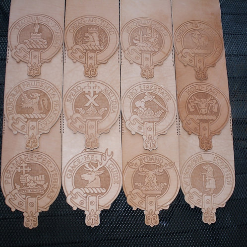 Hand Tooled Leather Clan Sporran