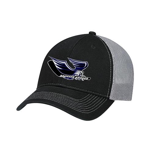 Deluxe Chino Winterhawks Trucker Style Hat (Slate Mesh)