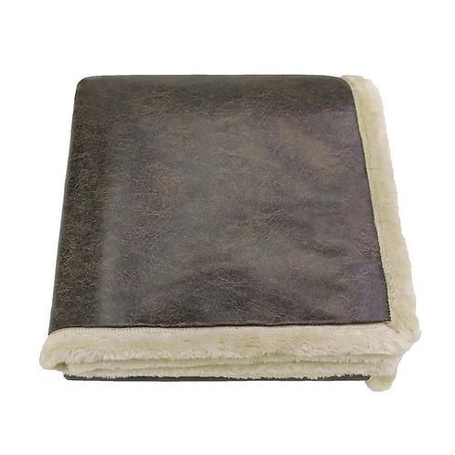 Kanata Faux Leather Throw