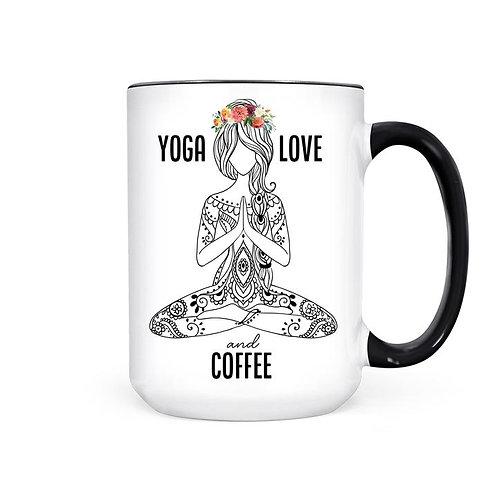 YOGA LOVE AND COFFEE | MUG