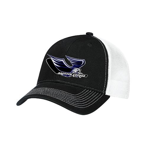 Deluxe Chino Winterhawks Trucker Style Hat (White Mesh)