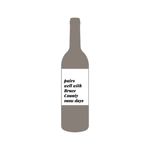 Snow Day Wine Label
