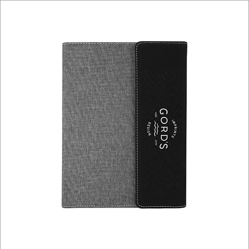 Leatherette/Canvas Portfolio with Notepad