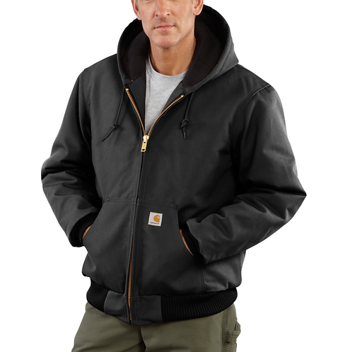 Carhartt Duck Quilted-Flannel-Lined Active Jacket